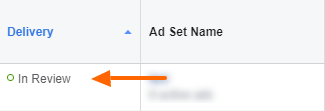Facebook ad in review